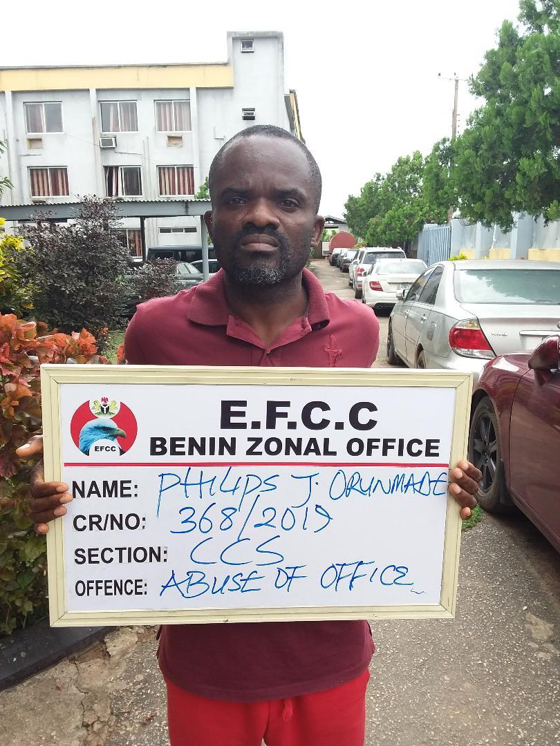 EFCC arrests First Bank staff Philips Orunmade stealing from ATM