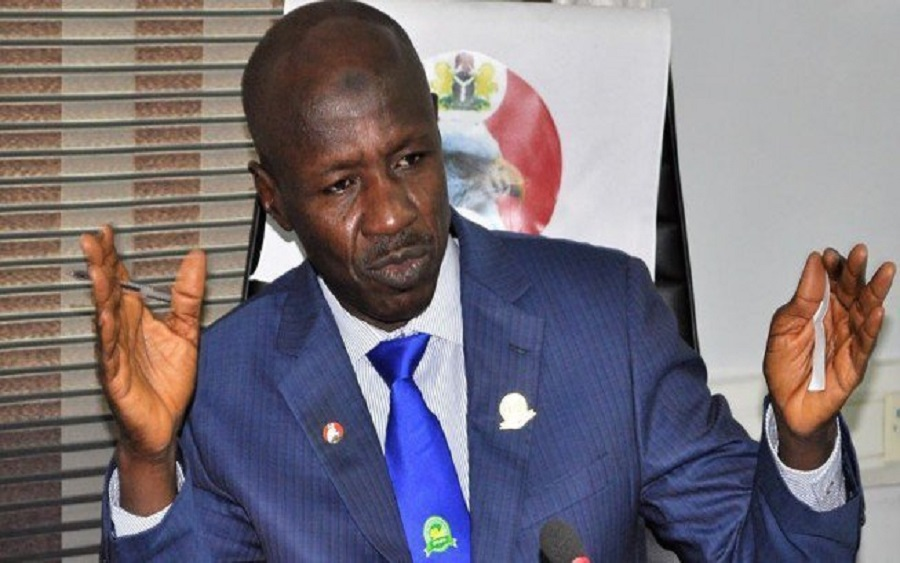 Just in: Suspended EFCC boss, Ibrahim Magu, finally released from detention