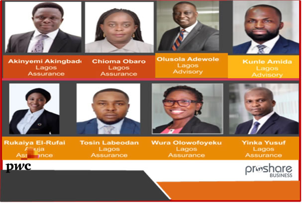 PwC Nigeria Admits Eight New Partners for 2020 Class