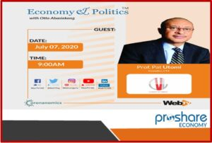 Pat Utomi to Speak on Leadership, Communication and Economic Management In Nigeria