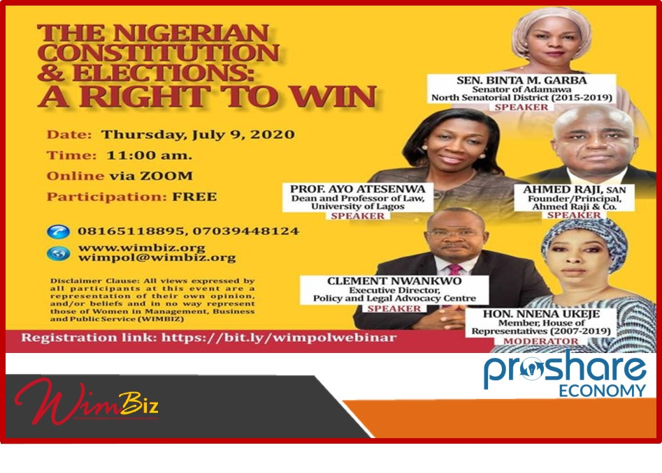 Women in Politics Webinar: The Nigerian Constitution and Elections: A Right to Win