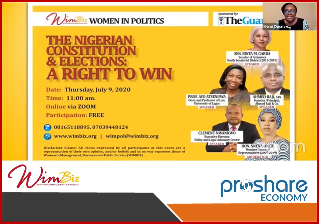 Communique for 2020 WIMBIZ Women in Politics (WIMPol) Webinar