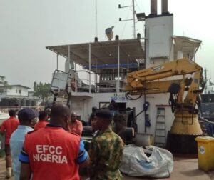 Oil Theft: MilitaryHands OverOil Thieves,Vessel to EFCC