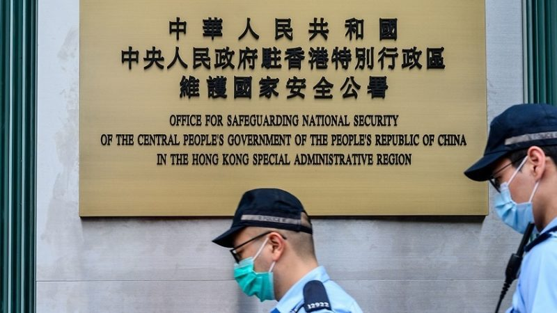 China converts Hong Kong hotel to security office