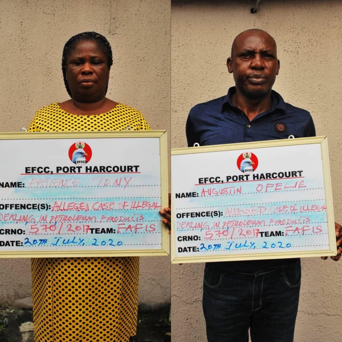 EFCC arraigns nursing mother over illegal oil dealings
