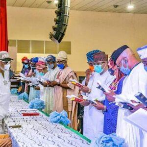 Akeredolu swears in new council chairmen – The Sun Nigeria