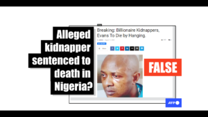 False rumour of kidnap accused's death penalty sentence originated from click-bait article