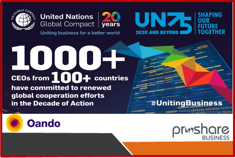 Oando Joins Business Leaders to Pledge Support For Multilateralism as The United Nations Turns 75