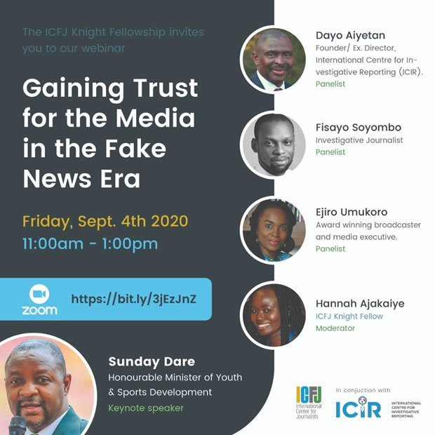 Minister proffers solutions to misinformation at ICIR, ICFJ conference on fake news
