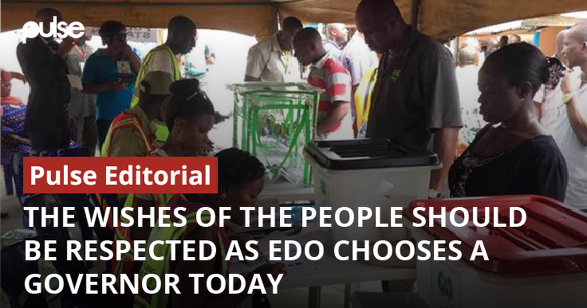 Edo Election: The wishes of the people should be respected as Edo chooses a Governor today [ARTICLE]