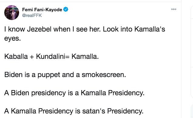 Nigeria: Criticisms As Fani-Kayode Labels Kamala Harris 'Jezebel'