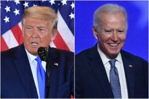 Biden maintains lead as Trump unleashes legal battle